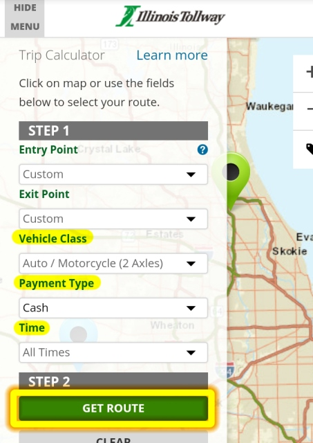 Trip Calculator HELP - Illinois Tollway on illinois court map, illinois expressway map, illinois green map, i'll road map, illinois information, state of illinois map, illinois elevation, illinois features, illinois state routes, illinois registration, illinois travel guide, illinois section map, illinois altitude map, illinois products, illinois zone map, illinois region map, illinois street map, illinois highway map, illinois river map, illinois travel map,